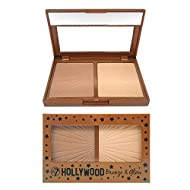 W7 | Hollywood Bronze & Glow Duo Compact | 2 in 1 Bronzing and Highlighting Pressed Powder | Colour:...