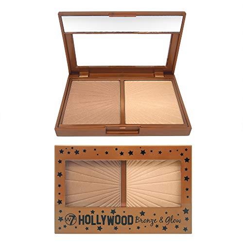W7, Hollywood - Ombretto luminoso, colore bronzo, 13gr