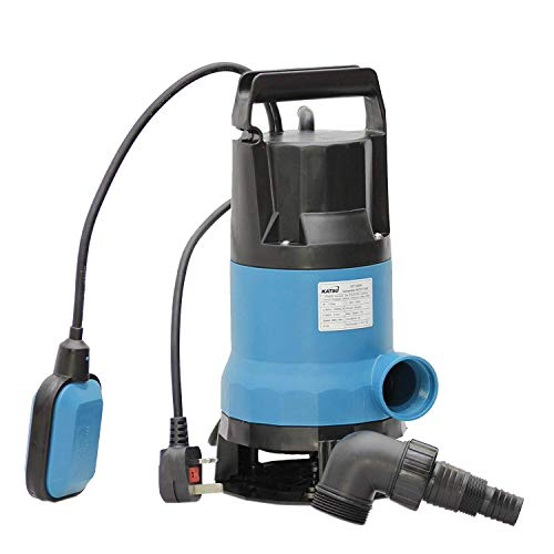 HEAVY DUTY 400W SUBMERSIBLE CLEAN DIRTY WATER PUMP 7500 LPH AUTOMATIC FLOOD PUMP
