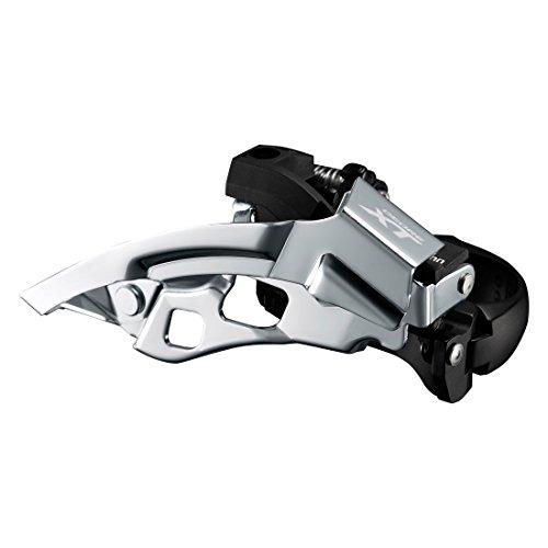 Shimano Deore XT Trekking FD-T8000 Umwerfer Schelle tief 3x10 Down Swing Schwarz Ausführung 63-66° Kettenstrebenwinkel 2017 Mountainbike
