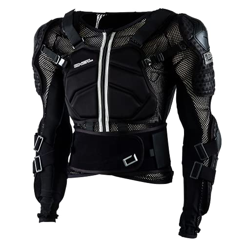 O'NEAL | Protektoren-Jacke | Motocross Enduro ATV | Verstellbare Stretchbänder, Hochschlagfestes IPX®-Material, Mesh-Paneele zur Kühlung | Underdog Protector Jacke | Erwachsene | Schwarz | Größe L