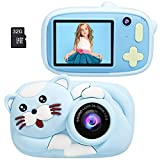 Winkeyes 26MP Digital Camera & 32GB TF Card, 2.4'' 1080 HD Dual Lens Digital Camera Rechargeable Selfie Toy Video Cameras with Silicone Cover, Birthday, for 16+ Year Old Girls, Boys