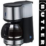 Butler 16100121 Filter-Kaffeemaschine, 4 Tassen, Edelstahlfront, Warmhalteplatte mit...