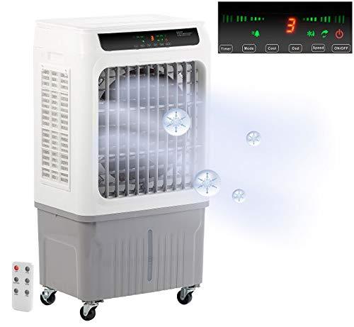 Sichler Haushaltsgeräte Luftreiniger mit Kühlung: 2in1-Gewerbe-Luftkühler und Luftbefeuchter LW-700, bis 50 m², 130 Watt (Luftbefeuchter und Kühler)
