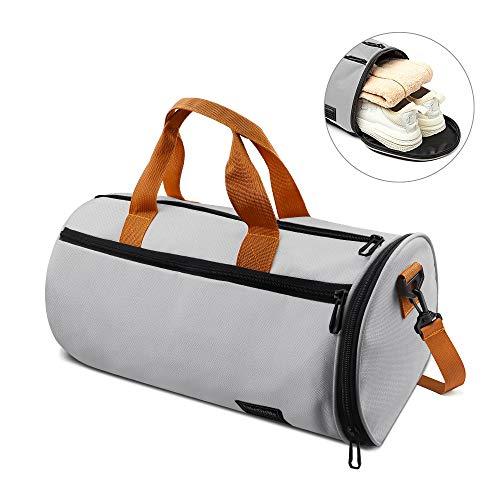 C100AE Sporttasche mit Schuhfach & Nassfach, Stilvolle Sporttasche Faltbare Reisetasche Gym Fitness Tasche, Leichte Sporttasche für das Wochenend-Fitness-Camping