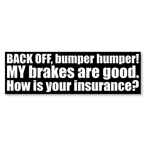 IT'S A SKIN Back Off How is Your Insurance | Vinyl Sticker Decal for Laptop Tumbler Car Notebook...