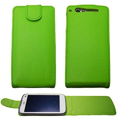 caseroxx Flip Cover für Base Lutea 3, Tasche (Flip Cover in grün)