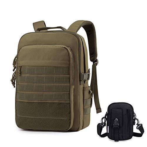 WindTook Zaino Tattico Militare Zaino Porta PC 15.6 Pollici 20L Zaino Uomo e Donna Zaini da Assalto Borsa per Trekking Campeggio Viaggio Lavoro Combinazione