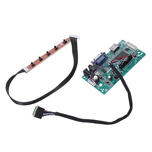 HEYB 30-polige VGA-Eingangskontrollerplatine Kit LCD EDP Treiberplatine für 1080P B156Han01.1 Lp156Wf4 Raspberry Pi 3 Laptop LCD-Bildschirm
