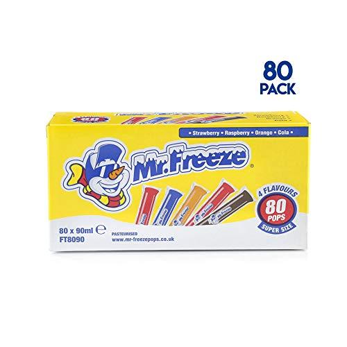 Mr. Freeze Super Size Freezepops 80 x 90ml (Pack of 80 x 90ml)