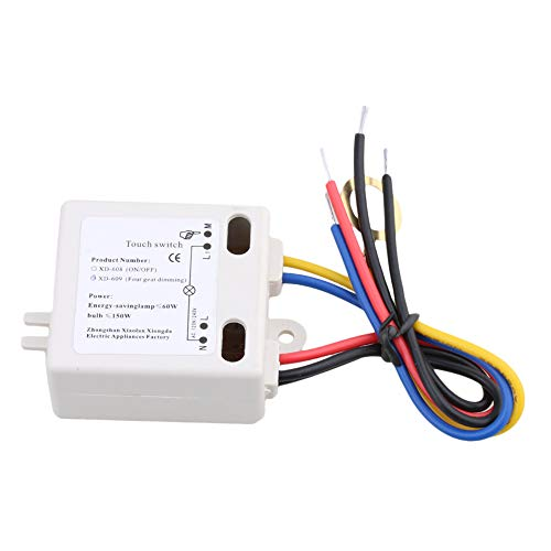 XD 609 4 de la mode on/off Switch Tactile Capteur for 220 V Tungsten Lamp