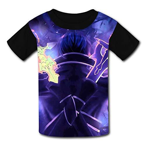 Lu-cario Kinder-T-Shirt, bequem, 3D-Grafik, kurzärmelig, für Jungen und Mädchen Gr. XL, Art Online-Schwert
