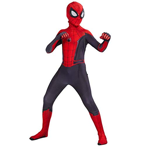 Kinderen Volwassen Superheld Spiderman Homecoming Halloween Carnaval Spider-Man Cosplay Outfit Pak Spandex/Lycra 3D Print, Marineblauw- (115~125cm)