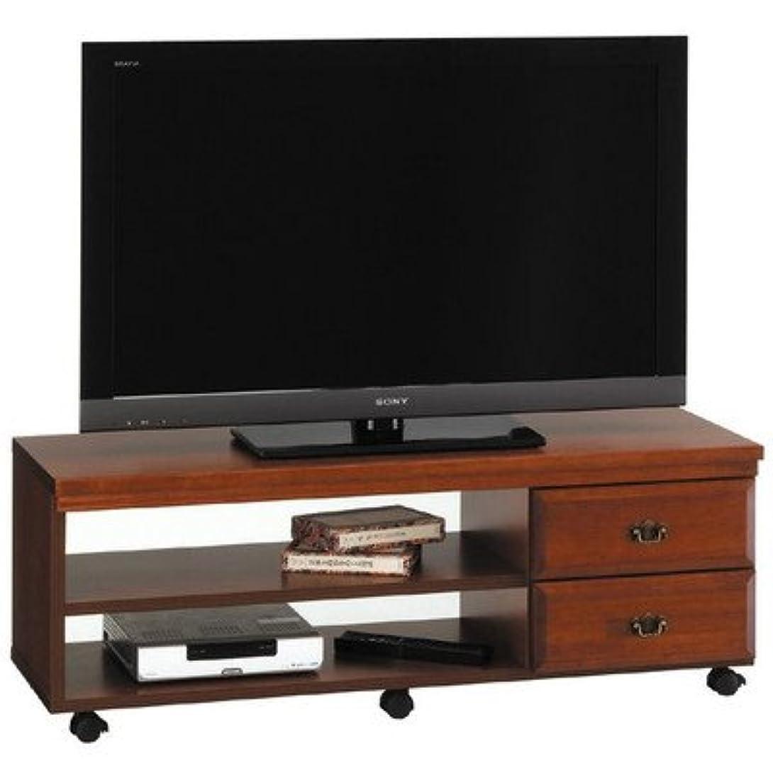 無限ファイルライラックマキシム110サイズ 液晶テレビ対応 ナチュラル木目調 テレビボード キャスター付き