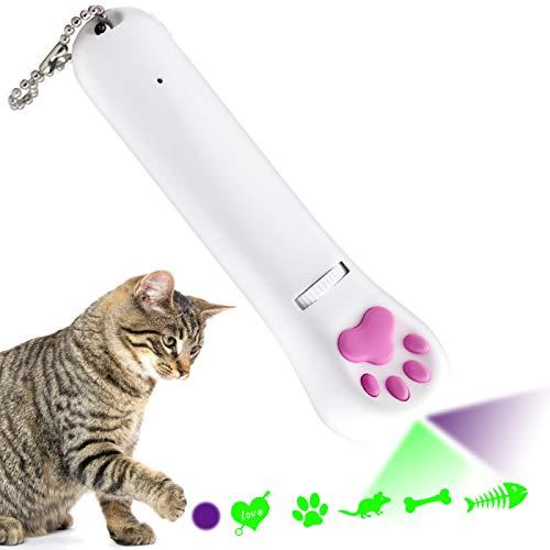 Sammiu Interaktives Katzenspielzeug, Katzenspielzeug für Indoor-Kätzchen, Katzenfangspielzeug Katzenübung Chaser Toy Pet Training Tool (5 Muster)