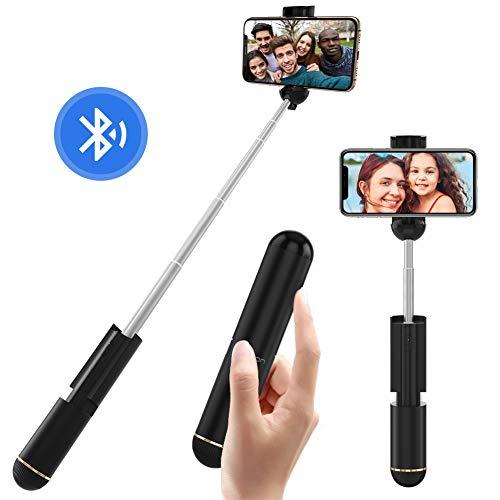 Yoozon Bluetooth Selfiestick mit integrierter Fernbedienung,Aluminium kabellos Selfie Stick kompakt leicht tragbar Selfie Stange Monopod inklus. Batterie für alle 3,5-6,5