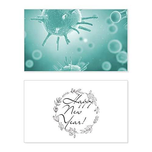 Creature Cell - Tarjeta conmemorativa de año nuevo con diseño de microscopio