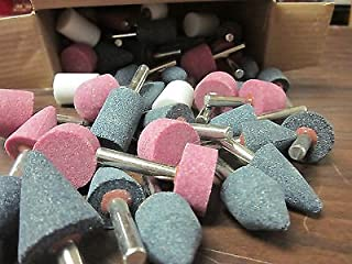 50pc GIT INDUSTRIAL TOOL MOUNTED GRINDING STONE ASSORTMENT BITS 1/4