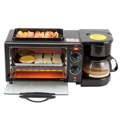 CNMGB Tostadora de Horno de café Tres en uno Mini Horno eléctrico Huevo Frito Función de Temporizador de 30 Minutos Capacidad del Horno 9L Potencia Total Nominal 1050w (45.5 * 18 * 20.5cm)