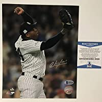 Autographed/Signed Aroldis Chapman New York Yankees 8x10 Baseball Photo Beckett BAS COA #2