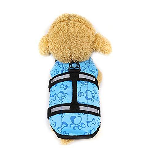 Mummumi - Chaleco salvavidas para mascotas, ajustable para perro y salvavidas reflectante, chaleco salvavidas para natación, surf, canotaje, perro (XS-azul)