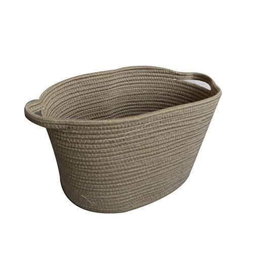 Monbedos Einfacher Stil Baumwollseil Geflochtener Aufbewahrungskorb Multifunktional Haushalt Ablagekorb