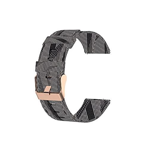 HENHEN Jun store Correa de reloj de nailon de 22 mm, compatible con Xiaomi Color Smart Watch Pulsera de repuesto Colorida Banda de muñeca Accesorios de uso (color de la correa: negro y blanco)