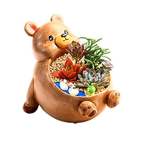 Maceta de resina para animales, ganado conejo oso panda perro elefante maceta plantas maceta jardín animales macetas suculentas, macetero, contenedor, soporte para el hogar, jardín, escritorio