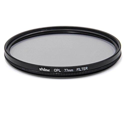 vhbw Universal CPL-Pol-Filter 77mm für Kamera Canon Casio Pentax Olympus Panasonic Sony Nikon Ricoh Sigma Tamron Samsung Fujifilm Agfa Minolta Kodak.