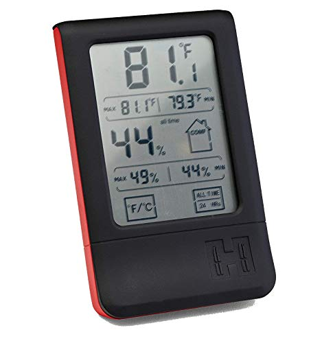 Hornady Digital Hygrometer, 95909 - Indoor Temperature and Humidity Monitor with Touchscreen LCD Display - Ideal Room Thermometer Hygrometer for Gun Safes & Cabinets, Closets, Workbench & More