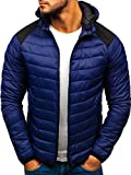 BOLF Blouson de Transition Sportif Matelassé Capuche J.Style LY1003 Bleu foncé M [4D4]