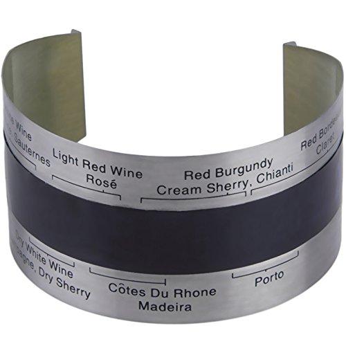 ExcLent Termómetro Lcd Para Vino Tinto Medidor De Temperatura 4-24 ? Acero Inoxidable