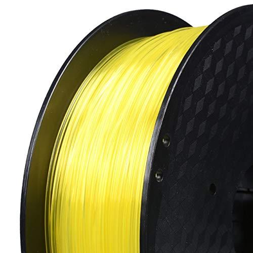 DZWLYX Stampante 3D filamento PLA 1,75 Millimetri 1KG plastica filamento Materiale RepRap Createbot/MakerBot for Parti della Stampante 3D / Penna 3D (Color : Transparent Yellow)