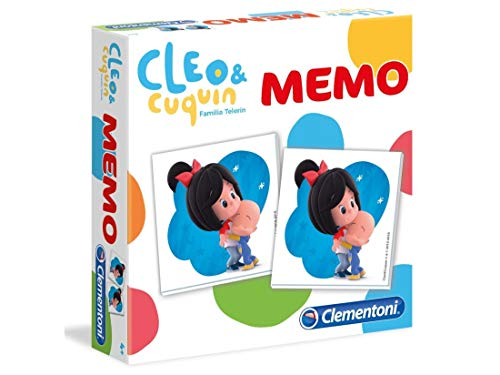 Clementoni- Memo Cleo & Cuquin, Multicolor (55230)