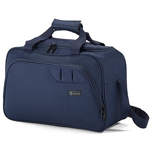 Benzi Bolsa de Viaje Azul 40 x 25 x 20 cm BZ5410 Tamaño Equipaje de Mano Ryanair (Azul)