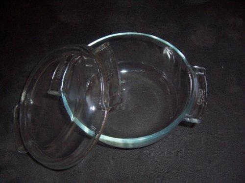 Vintage deCorning Pyrex 1 Quart Clear Glass Casserole Baking Dish w/ Lid #451 - France