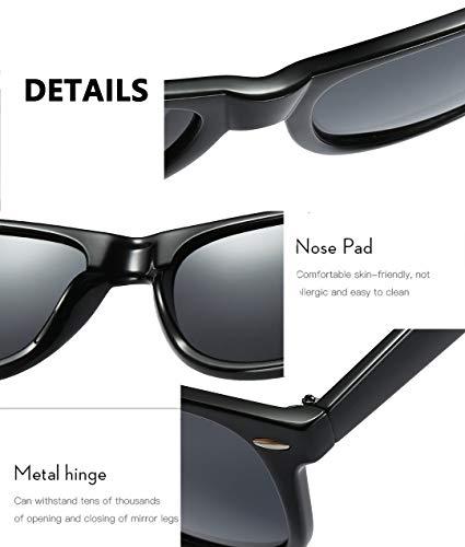Polarized Sunglasses for Men or Women Classic Frame Driving Classic Retro Designer Sun glasses 100% UV Blocking
