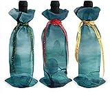 """Buste per bottiglia di vino con scritta """"Devil Grave Night"""", 3 pezzi, colorate, ideali come regalo di Natale, decorazione per la tavola delle vacanze taglia unica Come da immagine"""