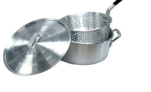 Smart Cook 10 Quart Aluminum Fry Pot with Basket and Lid by Smart Cook