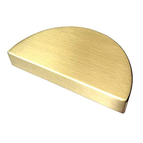 "2 1/2"" C-C Half Circle Moon Drawer Pull Handles Dresser Pulls Cabinet Handle Brushed Gold 2.5"" 64 mm Centers"