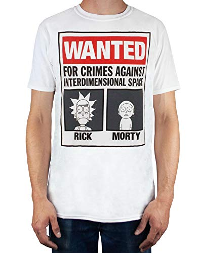 Rick and Morty Wanted Camiseta Hombre (XXXL)