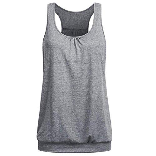 ESAILQ Damen Hemd beige karo gestreifte stehkragenbluse Bunte gestreift hellblaue Kragen braune Altrosa Shirtbluse schlupfblusen Shirt pink ohne (XL,Grau)