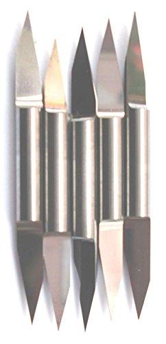 10 x 30 Degré Haute Qualité Double deux têtes carbure CNC Gravure Bit