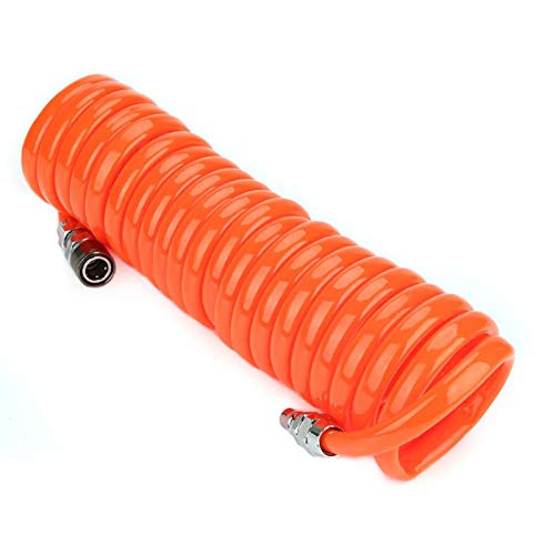Onewer Manguera neumática de PU, excelente flexibilidad Manguera neumática Funcional Excelente Elasticidad retráctil para tubería para construcción Industrial(12 * 8mm*6m)
