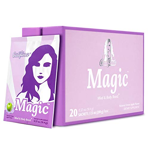MAGIC by Califina - Pre Workout Powder for Women -The Good-for-You Preworkout Supplement - Boosts Energy, Mood, Motivation, Strength & Tone - Vegan, Organic Greens-Based Formula - 20 Servings