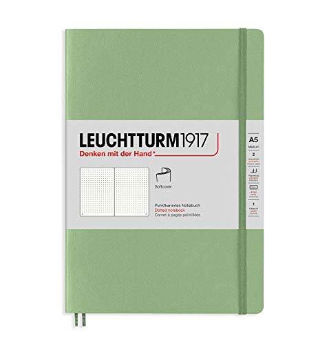 Leuchtturm1917 Special Edition Muted Colors - Cuaderno de notas (tamaño A5, tamaño mediano), color verde