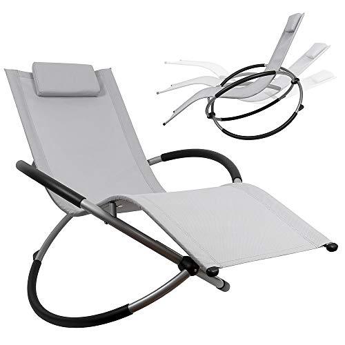 Melko Sonnenliege 200kg Schaukelliege Liegestuhl klappbar Relaxliege Schwingliege Balkonliege Terrassenliege Kippliege - atmungsaktiv, witterungsbeständig und pflegeleicht
