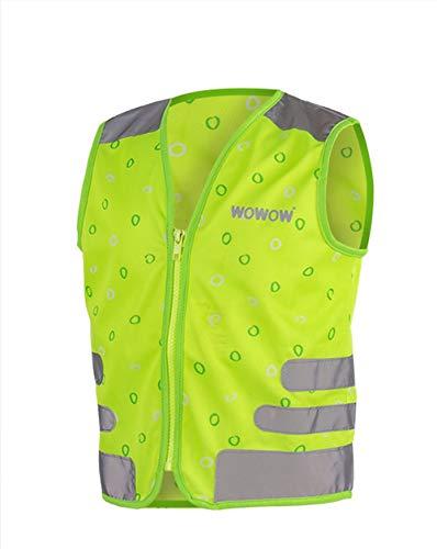RennMaxe : WOWOW Reflex Kinderweste Nutty - Green - M (8-11 Jahre) - inkl Sicherheitsband - Leuchtweste Warnweste Sicherheitsweste Kinder Jugendliche