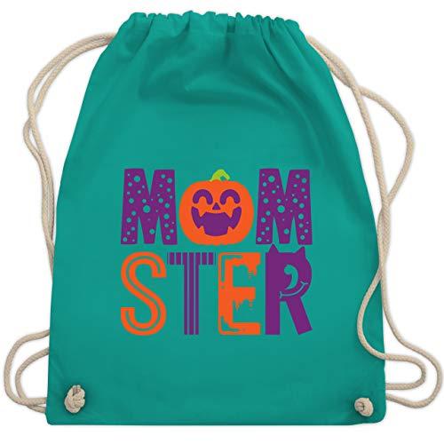 Shirtracer Halloween - Momster - Unisize - Türkis - Halloween - WM110 - Turnbeutel und Stoffbeutel aus Baumwolle