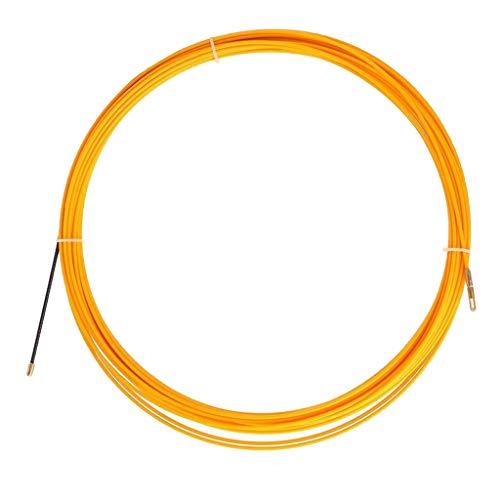B Baosity 30 Meter Einziehspirale Kabelverlegung Einziehdraht Durchziehhilfe Einziehhilfe, Durchmesser 3mm